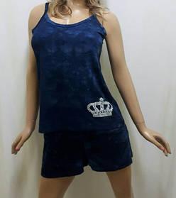 Костюм шорты с карманами и майка на бретельке 287, размеры 42,44,46,48,50.
