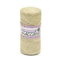 Трикотажный полиэфирный шнур с люрексом PP Macrame, цвет Молочный