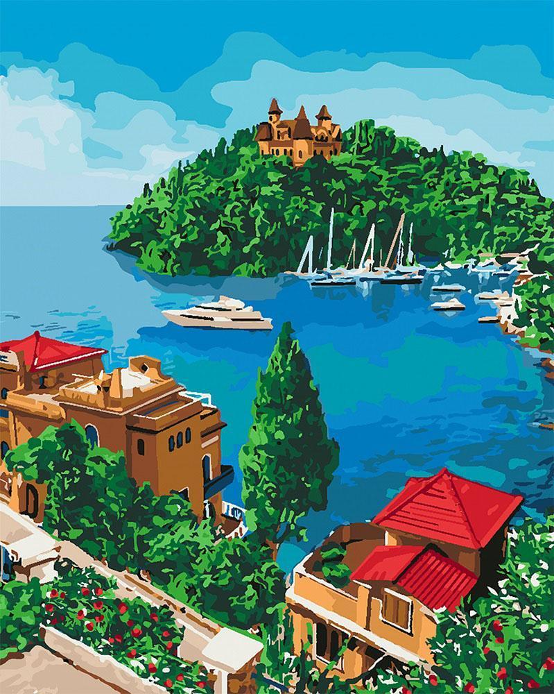 Картина рисование по номерам Идейка Остров надежды KH2276 40х50 см Пейзаж, природа набор для росписи краски,
