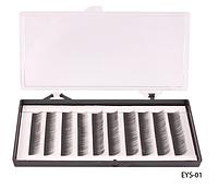 Шелковые ресницы ручного безузелкового сплетения (черные; длина 8 mm) Lady Victory LDV  EYS-01 /13-4