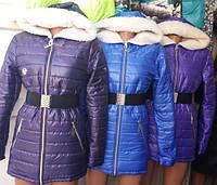 Зимняя куртка на овчине (3 цвета) Батал