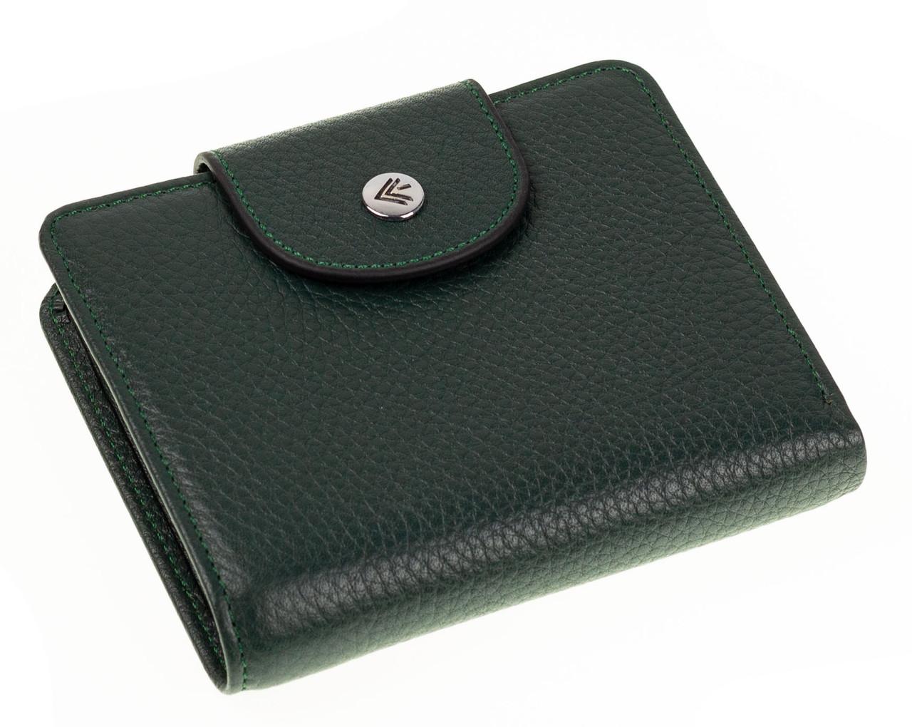 Маленький женский кошелек Eminsa 2154-18-16 кожаный зеленый