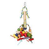 Дерев'яна іграшка Trixie для птахів з паперовими стрічками., фото 3