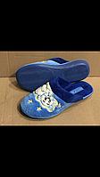 Тапочки голубые Белста 37-41 размер с мишкой