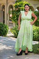 """Длинное летнее платье """"Scarlett"""" с вырезом декольте (большие размеры)"""