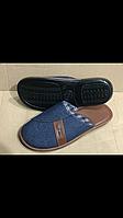 Тапочки мужские Белста джинсовые с коричневой вставкой 41-45 размер
