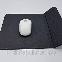 2 в 1 Коврик для мышки с беспроводной зарядкой QI MASSLINNA WC3, фото 3