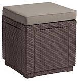 Комплект садових меблів Allibert by Keter Corfu Box Set Max with Puff Brown ( коричневий ), фото 2