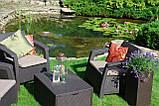 Комплект садових меблів Allibert by Keter Corfu Box Set Max with Puff Brown ( коричневий ), фото 9