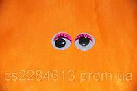Глазки для игрушек и кукол,розовые с ресницами, бегающие, d- 2,0 см, пара