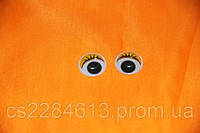 Глазки для игрушек и кукол,желтые с ресницами, бегающие, d- 2,0 см, пара