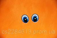 Глазки для игрушек и кукол,синие, 1,3*2,0 см, пара