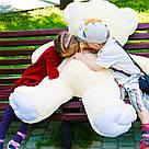 Плюшевые медведи: Плюшевый медвежонок Майки 1,4 метра ( 140 см), Персиковый, фото 3