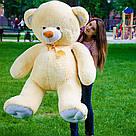 Плюшевые медведи: Плюшевый медвежонок Майки 1,4 метра ( 140 см), Персиковый, фото 5