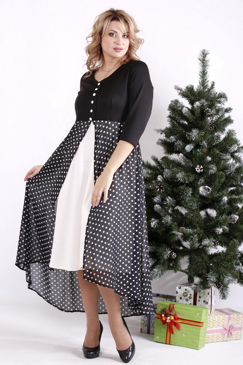 Красивое платье большие размеры с завышенной талией
