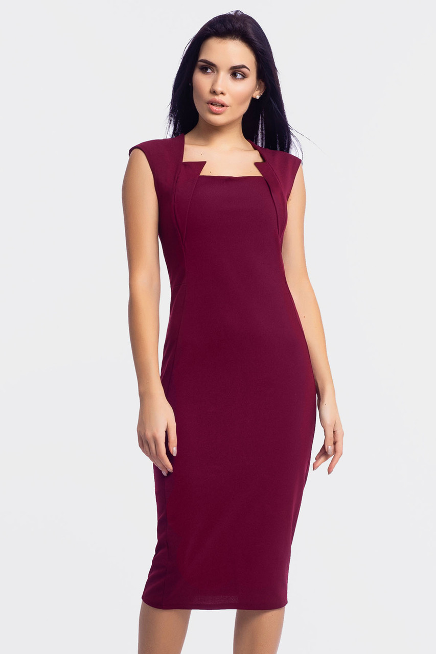 S, M, L, XL | Вечірнє плаття-футляр Roksen, марсала