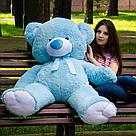 Плюшевые медведи: Плюшевый медвежонок Майки 1,6 метра ( 160 см), Голубой, фото 2