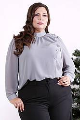 Красива блузка великого розміру сірого кольору
