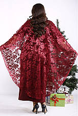 Вечернее платье больших размеров бордовое длинное, фото 3