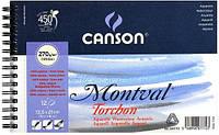 Альбом для акварели 270г 100% целлюлоза Torchon Montval (снежное зерно) 12л на спирали 13.5х21см А5,