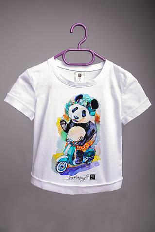 Детская футболка с принтом Панда
