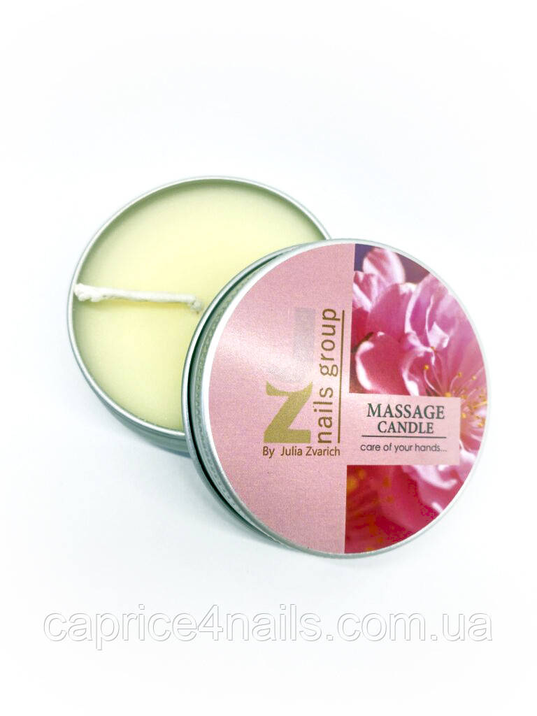 Свеча массажная с ароматом какао масла и чайной розы, JZ, 40 гр