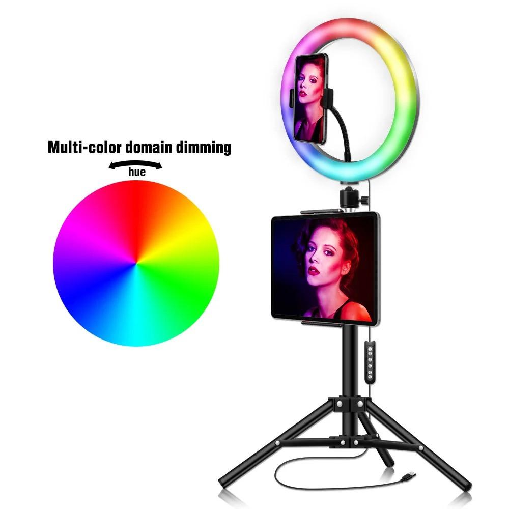 Кольцевая LED лампа для селфи RGB MJ33