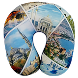 Подушка для путешествий под шею антистресс Турист, полистерольные шарики 35*35см / tp - 181102-5, фото 3