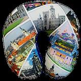 Подушка для путешествий под шею антистресс Турист, полистерольные шарики 35*35см / tp - 181102-5, фото 4