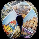 Подушка для путешествий под шею антистресс Турист, полистерольные шарики 35*35см / tp - 181102-5, фото 5