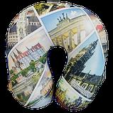 Подушка для путешествий под шею антистресс Турист, полистерольные шарики 35*35см / tp - 181102-5, фото 6