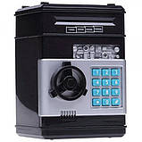 Детская электронная копилка сейф с кодовым замком и звуковыми эффектами Черный, фото 2