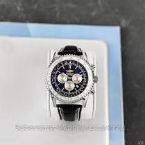 Годинники чоловічі наручні Breitling A24322 Black-Silver / репліка ААА класу, фото 3