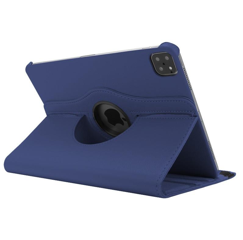 "Кожаный чехол книжка для iPad Pro 12.9"" (2020) синий"