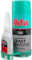 Клей двухкомпонентный Akfix - 400 мл + 100 г (705)