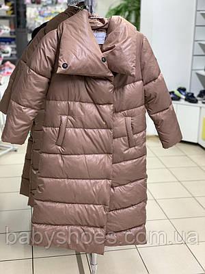 Зимнее пальто Mone coverlet 1802-4, цвет капучино, р.134, 146, 152, 158, 164