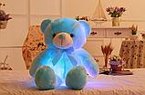 Плюшевые, светящиеся мишки 22 см Милые мягкие игрушки медвежата, со светодиодной подсветкой, фото 3