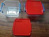 Судочек квадратный с крышкой, 500мл(11×11×5.5)., фото 3