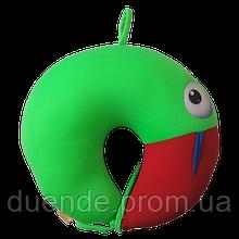 Подушка детская дорожная рогалик антистресс, полистерольные шарики 30*28 см / tp - 180519 Какаду