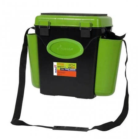 Ящик зимний односекционный Тонар Helios Fish Box 10л зелёный, фото 2