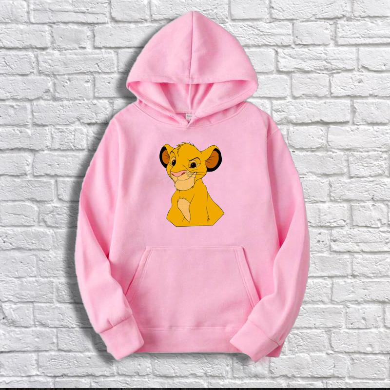 Худи  Disney Толстовка Симба розовая