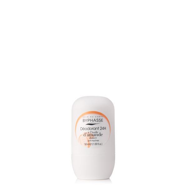 Byphasse 24h Deodorant Sweet Almond Oil Дезодорант роликовый дезодорант 50 мл