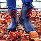 Гумові чоботи з піни, р 37, Сині чоботи на сльоту і дощ, фото 2