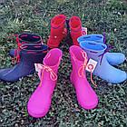 Резиновые сапоги из пены, р 36, 37, 38, 40 Синие сапоги на слякоть и дождь, фото 10