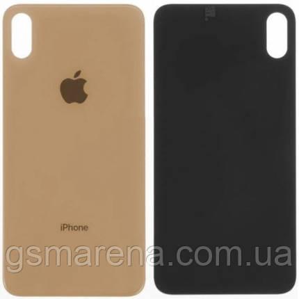 Задняя часть корпуса Apple iPhone XS Max Золотой (большой вырез под камеру), фото 2