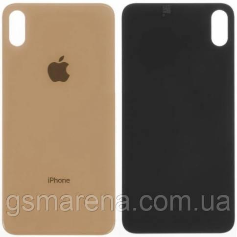 Задняя часть корпуса Apple iPhone XS Max Золотой (большой вырез под камеру)