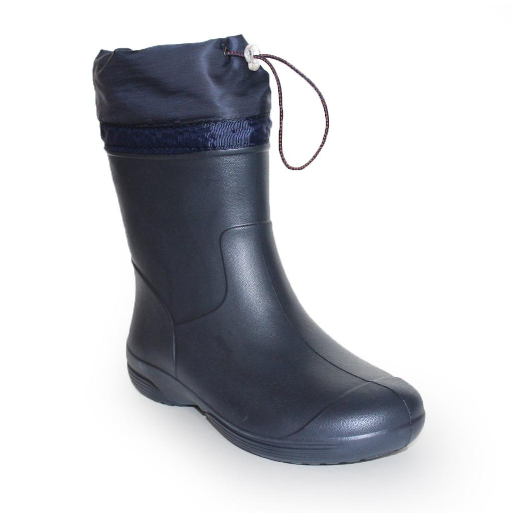 Резиновые сапоги с утяжкой из пены, 36, 37, 38, 39, 40, 41 Синие сапоги на слякоть и дождь