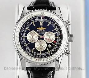 Годинники чоловічі наручні Breitling A24322 Black-Silver / репліка ААА класу