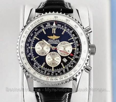 Годинники чоловічі наручні Breitling A24322 Black-Silver / репліка ААА класу, фото 2