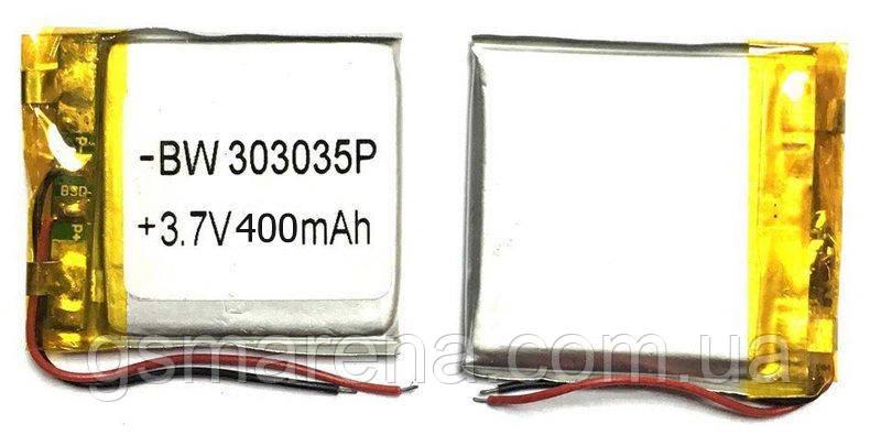 Аккумулятор универсальный 303035P 3x3.5cm 3.7v 400mAh, фото 2